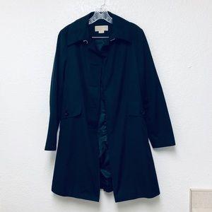 Michael Michael Kors Black Trench Coat Size Medium
